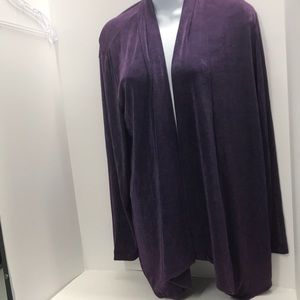 Chico's Travelers Purple open cover-up size 1